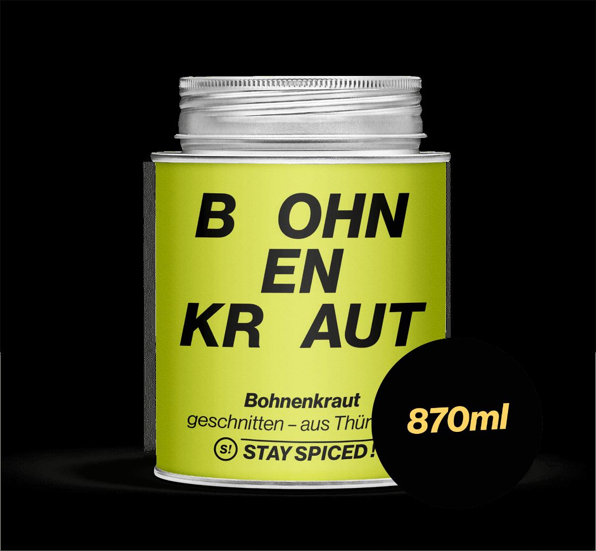 Bohnenkraut geschnitten - original Thüringer, 870 ml Schraubdose 870ml Schraubdose