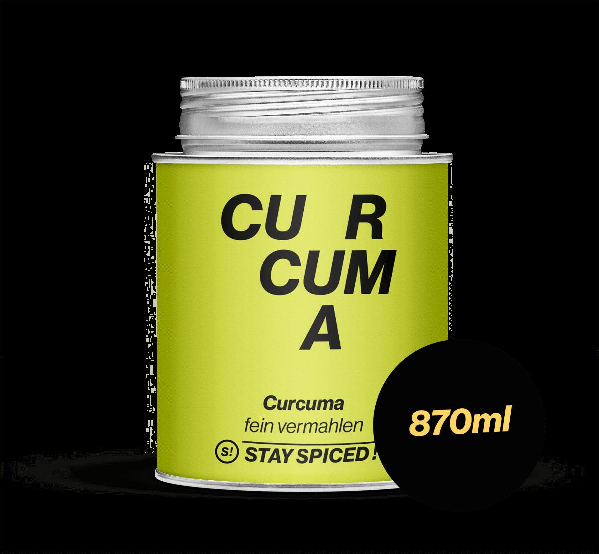 Curcuma - Gelbwurz - gemahlen, 870 ml Schraubdose 870ml Schraubdose
