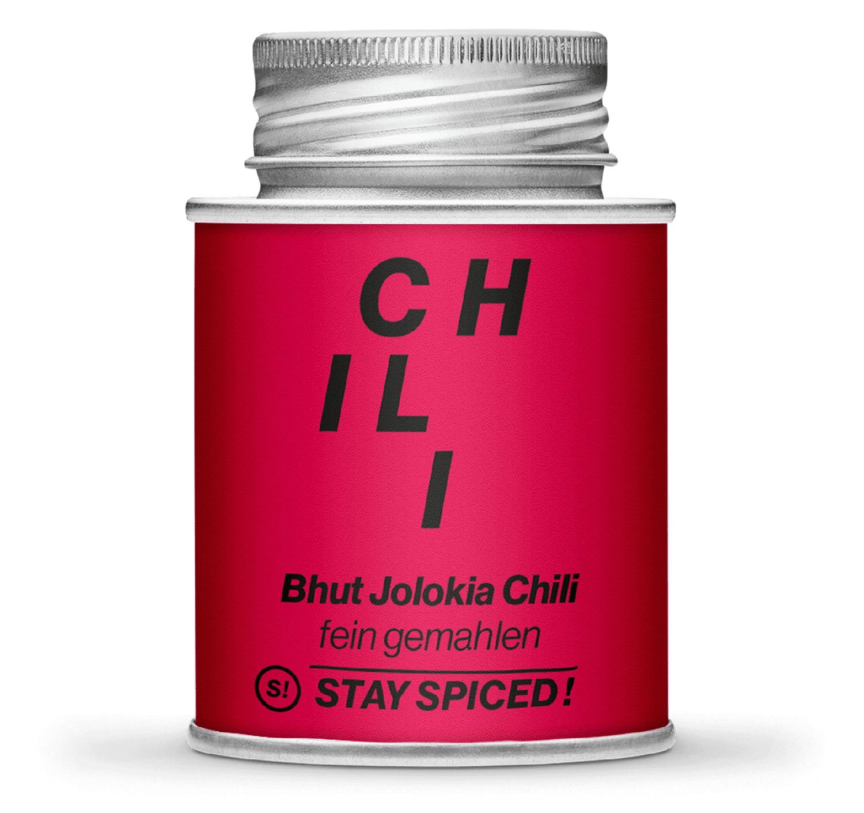 Bhut Jolokia (Naga-, Bahut-, King) Chili gemahlen