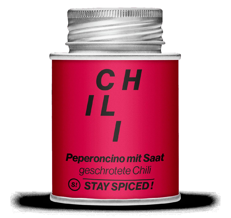 Chili / Peperoncino rot geschrotet mit Saat