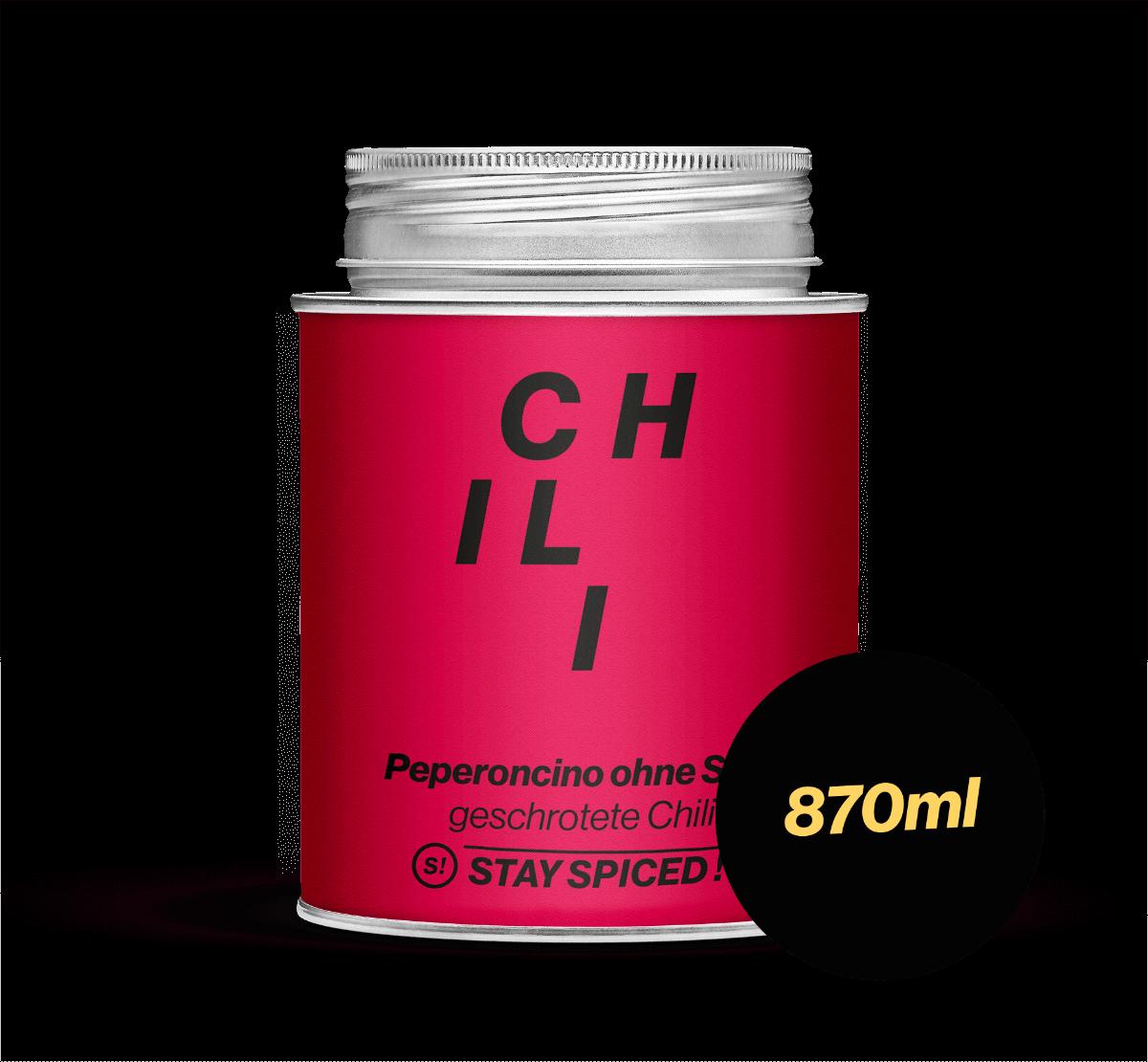 Chili / Peperoncino rot mild geschr. ohne Saat, 870 ml Schraubdose 870ml Schraubdose