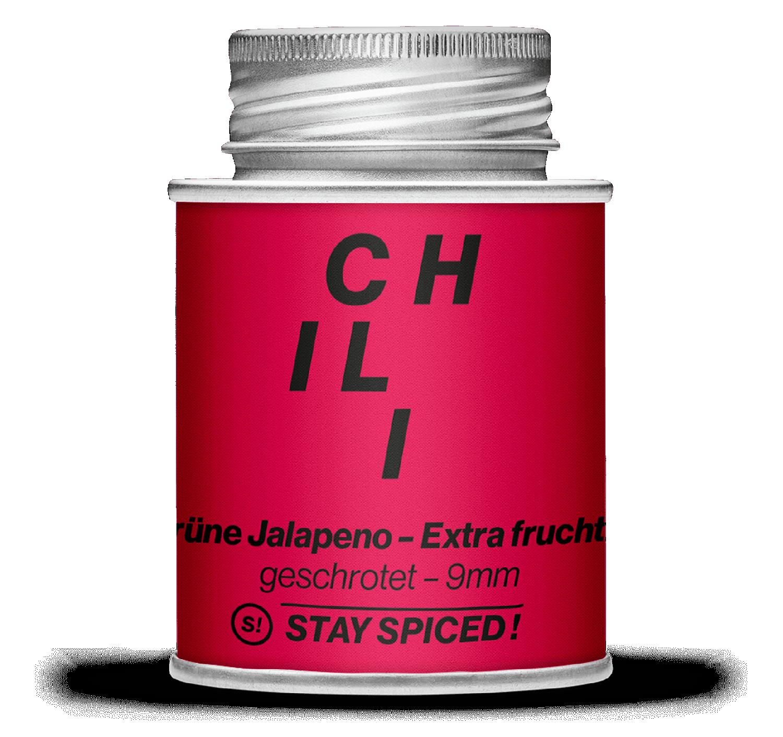 Jalapeno Chili, grün geschrotet 9mm - Extra Fruchtig!