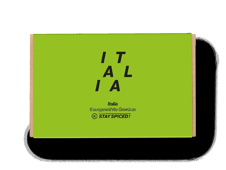 """Geschenkbox """"Italia"""" aus 6 ausgewählten Gewürzen"""