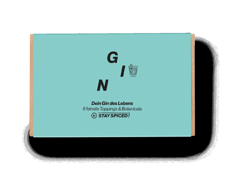 """Geschenkbox """"Gin & Botanicals"""" mit 6 ausgewählten Gewürzen"""