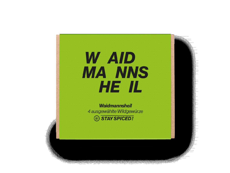"""Geschenkbox """"Waidmannsheil"""" mit 4 ausgewählten Gewürzen"""
