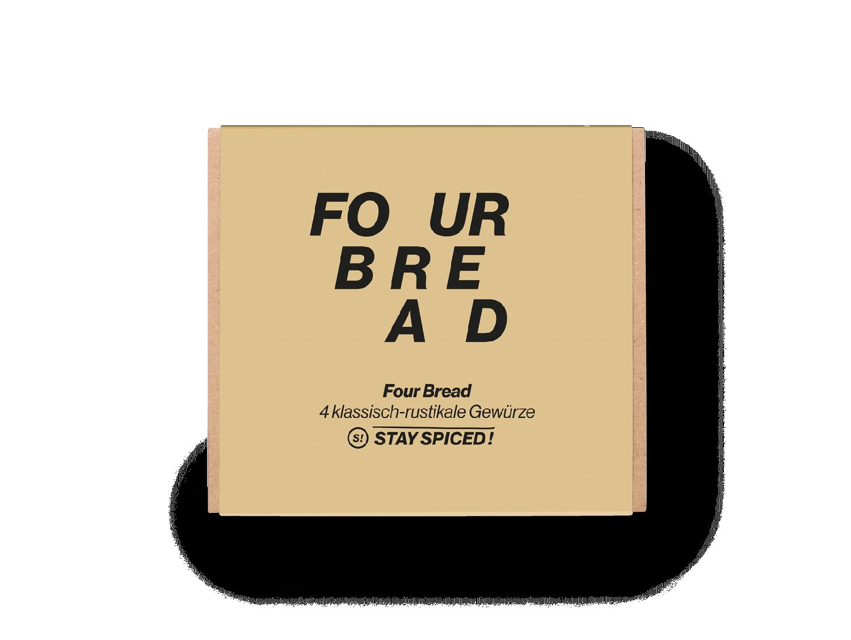 """Geschenkbox """"Four Bread"""" mit 4 ausgewählten Gewürzen"""