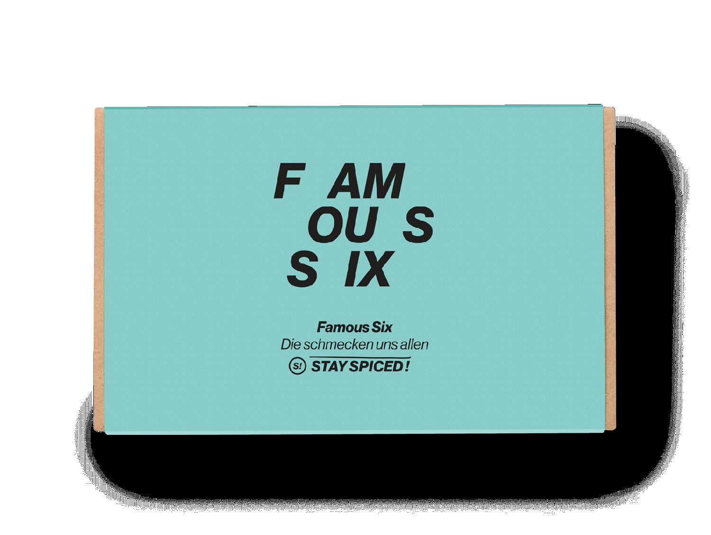 """Geschenkbox """"Famous Six"""" mit 6 ausgewählten Gewürzen"""