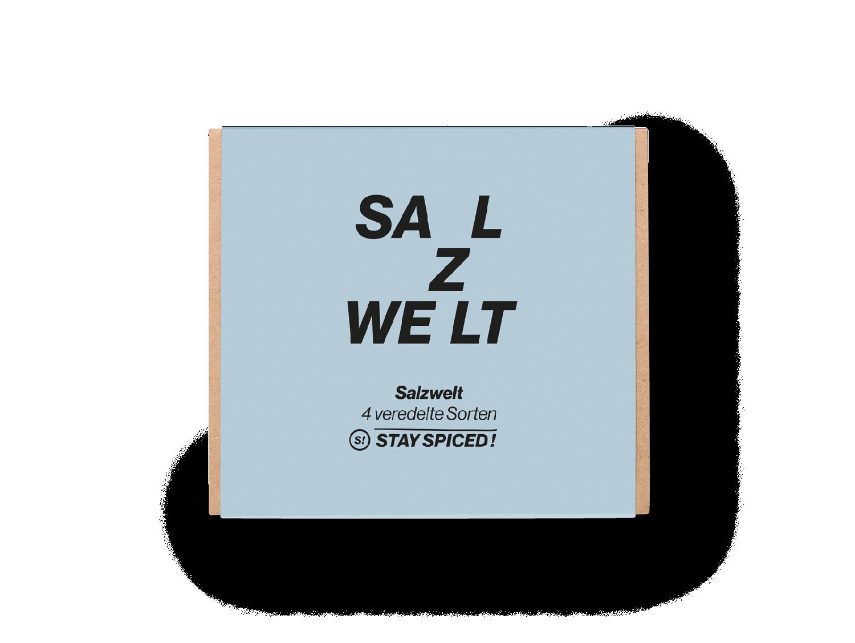 """Geschenkbox """"Salzwelt"""" mit 4 ausgewählten Gewürzen"""