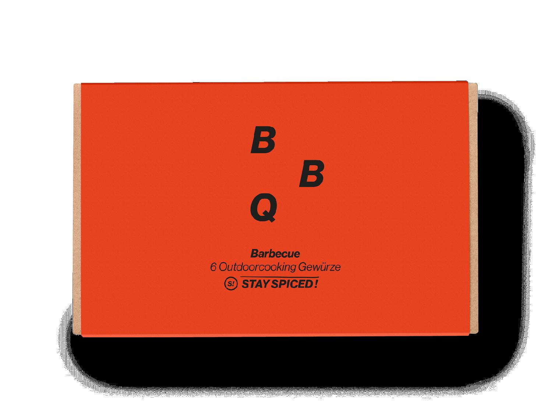 """Geschenkbox """"BARBECUE"""" mit 6 ausgewählten Gewürzen"""