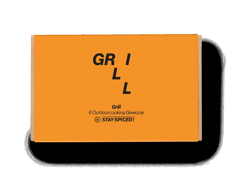 """Geschenkbox """"GRILL"""" mit 6 ausgewählten Gewürzen"""