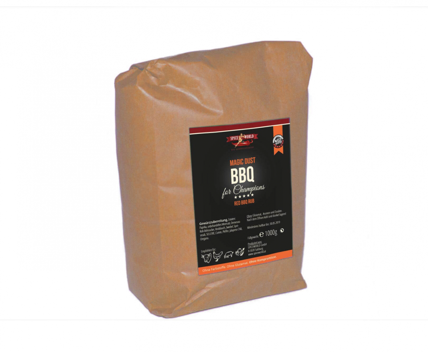 Barbecue for Champions - Magic Dust - Red BBQ Rub - 1000g Beutel 1kg Beutel