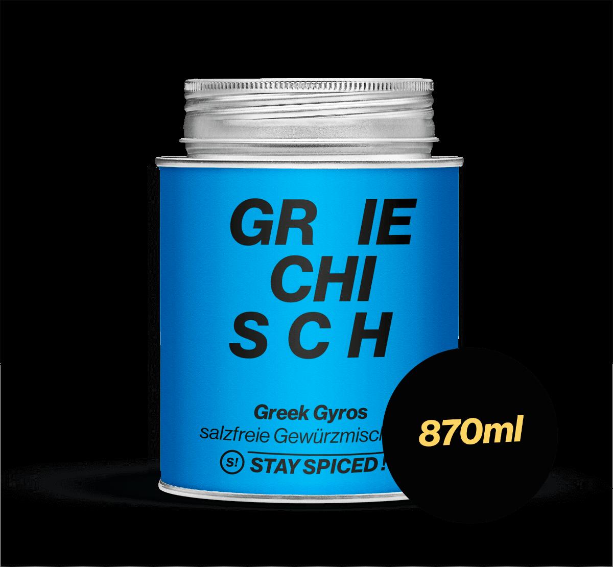 Greek Gyros - salzfrei, 870 ml Schraubdose 870ml Schraubdose