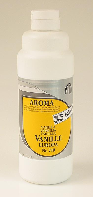 Vanille-Aroma, Europa, flüssig, Dreidoppel, No.719, 1 l PE-FLASCHE