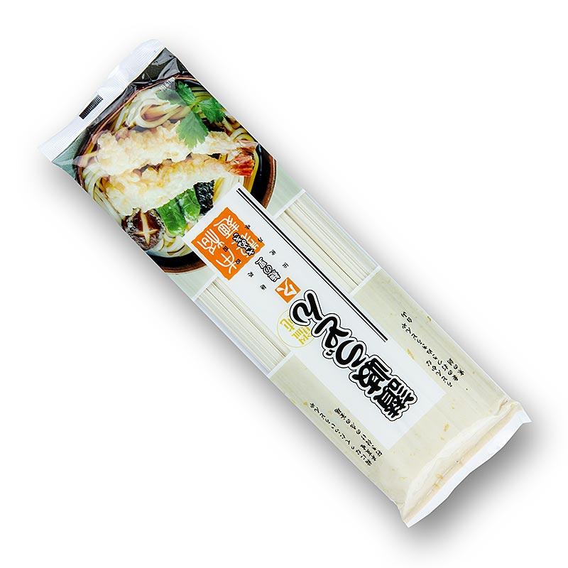 Udon Nudeln - Weizennudeln, hell, flach, 3mm, ca. 24cm lang, Kubota, 250 g BEUTEL