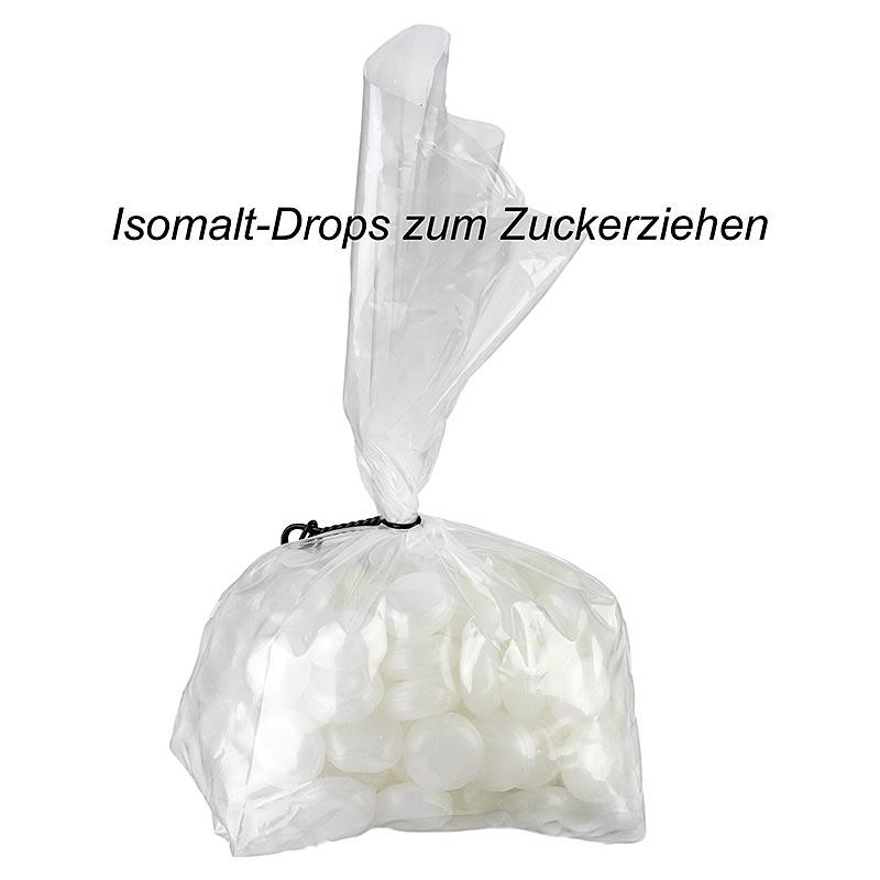Isomalt-Drops zum Zuckerziehen, Zuckeraustauschstoff, mikrowellengeeignet, 1 kg BEUTEL