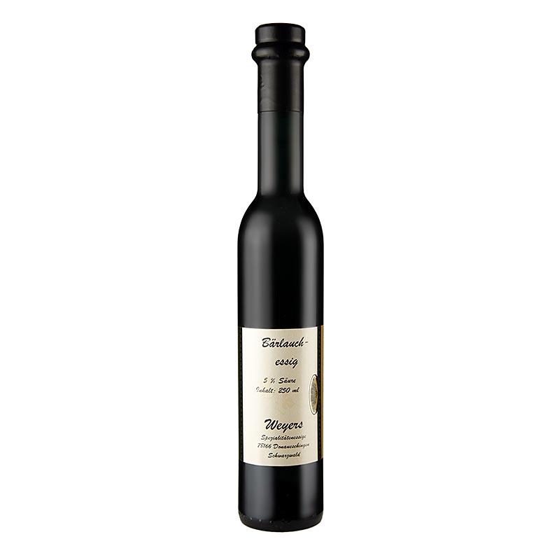 Weyers Bärlauch-Essig, Weißweinessig mit frischem Bärlauch, 5% Säure, 250 ml FLASCHE