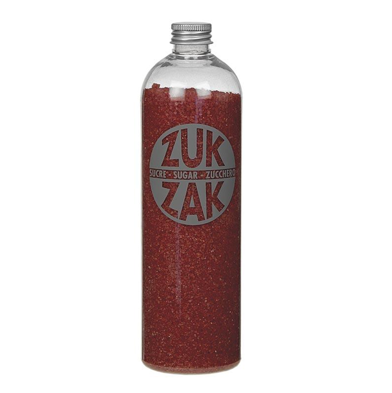 Farbiger Kristallzucker - ZUK ZAK, rot, 450g PE-FLASCHE