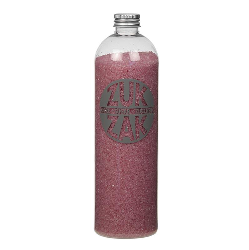 Farbiger Kristallzucker - ZUK ZAK, rosa, 450g PE-FLASCHE