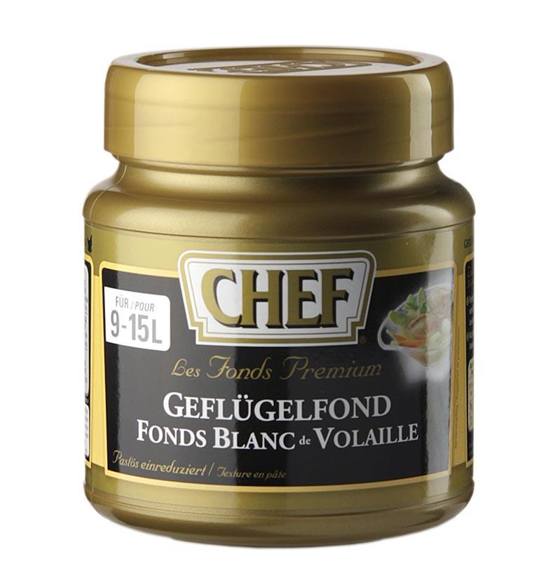 CHEF Premium Konzentrat - Geflügelfond, leicht pastös, hell, für 9-15 L, 630 g PE-DOSE