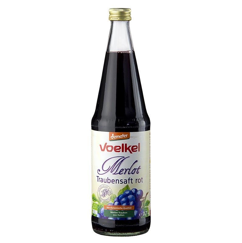 Merlot Traubensaft, dunkel, 100% Direktsaft, Voelkel, BIO, 700 ml FLASCHE