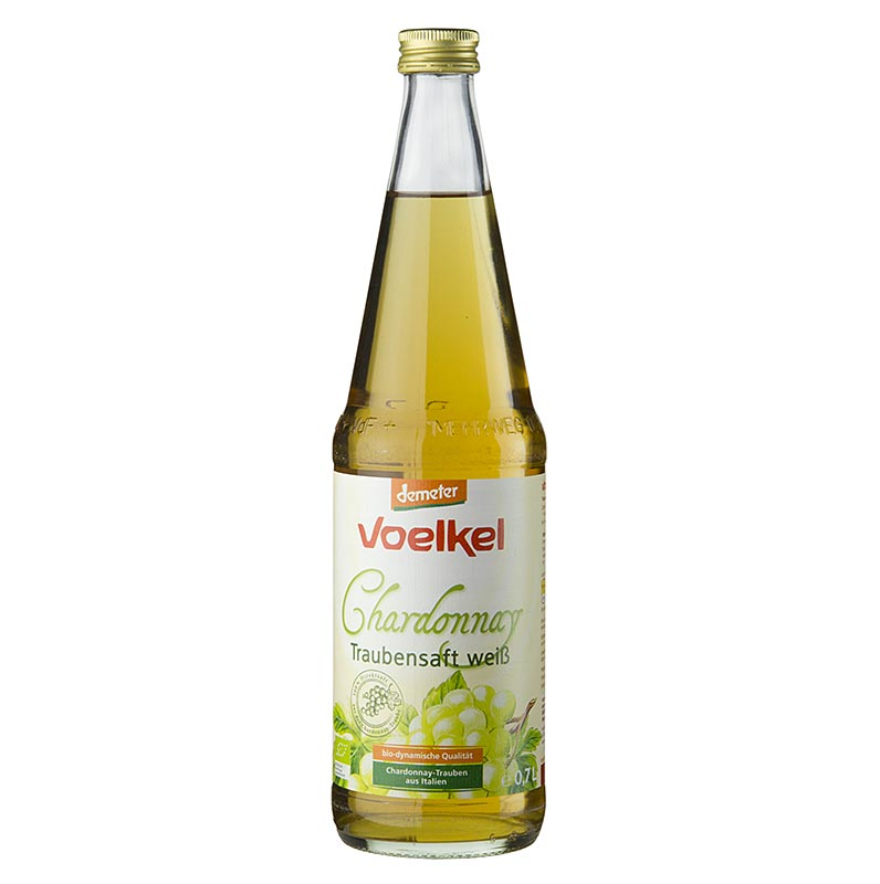 Chardonnay Traubensaft, hell, 100% Direktsaft, Voelkel, BIO, 700 ml FLASCHE