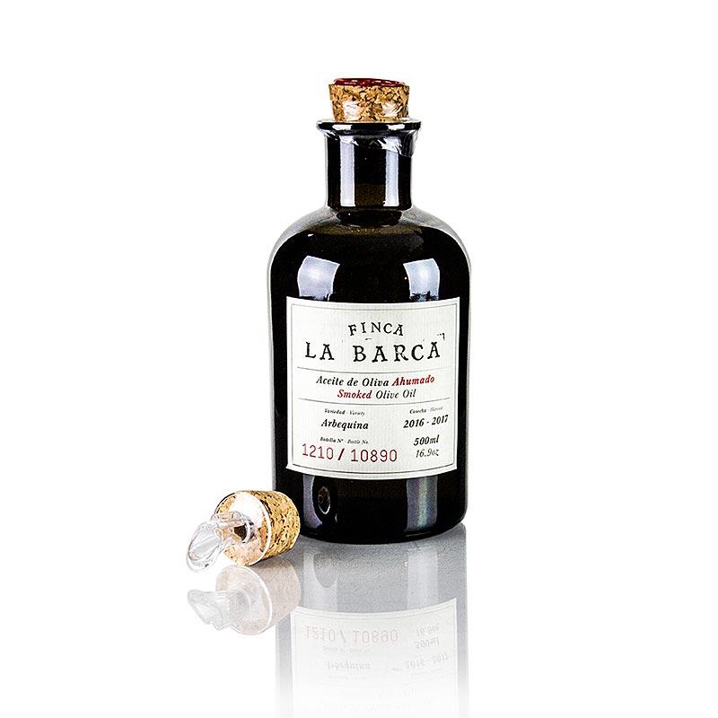 Olivenöl Geräuchert, 100% Arbequina, 500ml, Finca La Barca (Geschenkbox), 500 ml BOX
