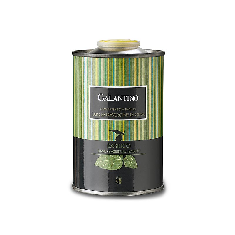 Natives Olivenöl Extra, Galantino mit Basilikum aromatisiert, 250 ml KANISTER