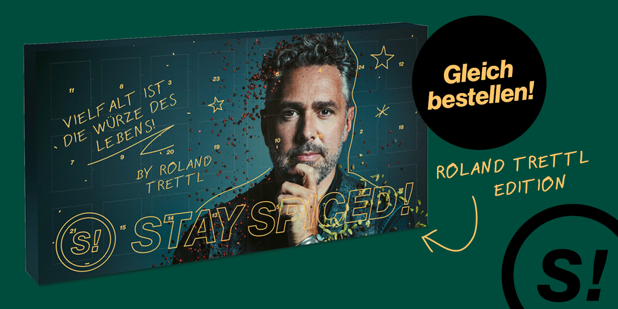 Adventskalender - STAY SPICED ! -  GOLD Edition by Roland Trettl 2021